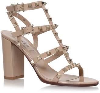 Valentino Leather Rockstud Sandals 90