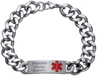 JCPenney FINE JEWELRY Personalized Mens Stainless Steel Medical ID Bracelet