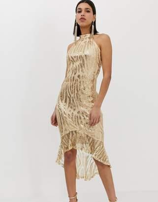 efd5f8a4ead AX Paris high neck all over sequin midi dress