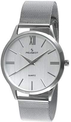 Peugeot Men's 'Roman Numeral' Quartz Metal and Stainless Steel Dress Watch
