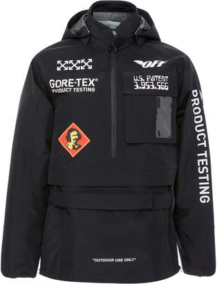 Off-White Gore-Tex Printed Shell Hooded Jacket