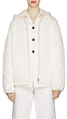 Jil Sander Women's Diamond-Quilted Twill Jacket - White