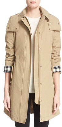 Women's Burberry Hartlington Hooded Cotton Blend Parka $795 thestylecure.com