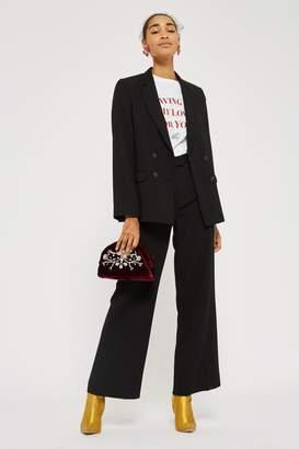 Topshop Womens Slouch Suit Trousers - Black