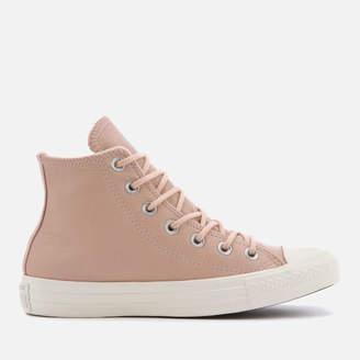 Converse Chuck Taylor All Star Hi-Top Trainers - Dusk Pink/Dusk Pink.Egret