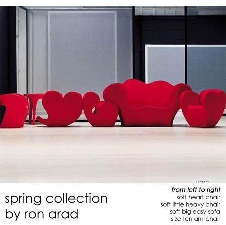 Moroso - spring collection by ron arad for moroso of italy