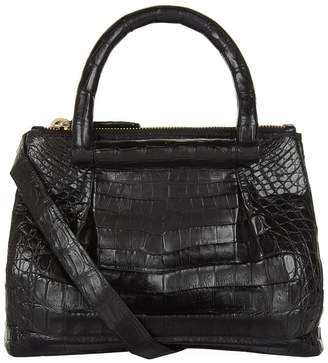 Nancy Gonzalez Mini Plisse Crocodile Cross Body Bag