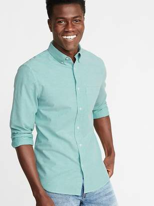 8834c22a064 Old Navy Slim-Fit Built-In Flex Everyday Oxford Shirt For Men