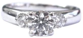 Scott Kay Platinum & 1.08ct Diamond Three Stone Engagement Ring Sz 6