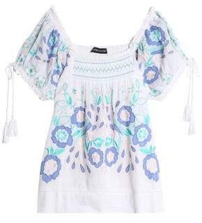 Antik Batik Rubi Embroidered Cotton-Voile Blouse