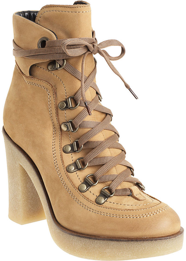 CO-OP Barneys New York Lace Up Ankle Boot - Tan