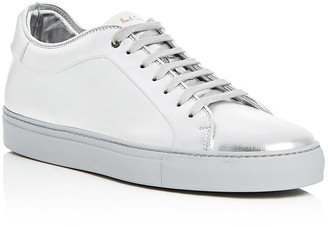 Paul Smith Basso Metallic Lace Up Sneakers $495 thestylecure.com