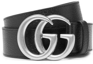 Gucci 4cm Full-Grain Leather Belt - Men - Black