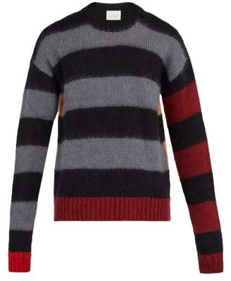 Aries Striped Knitted Sweater - Mens - Black
