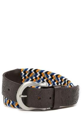 Robert Graham Jive Woven And Leather Belt