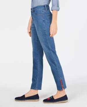 Charter Club Zipper-Cuff Skinny Jeans, Created for Macy's