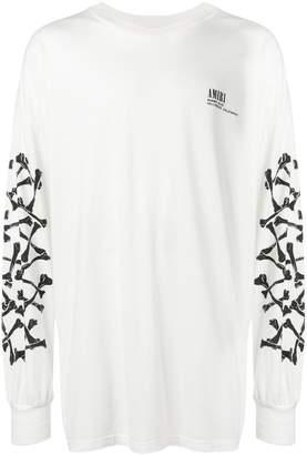 Amiri bone sleeve top