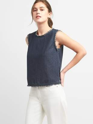 Gap Denim Crewneck Shell Top