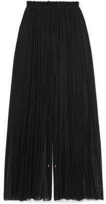 Elena Makri - Tegea Crinkled Silk-tulle Pants - Black