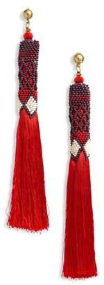 Panacea Beaded Tassel Earrings