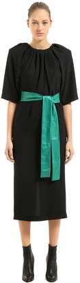 Maison Margiela CADY DRESS WITH LEATHER BELT