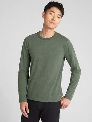 Gap Marled Long Sleeve Crewneck T-Shirt