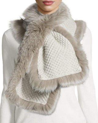 Neiman Marcus Il Borgo Fox Fur Pull-Through Scarf