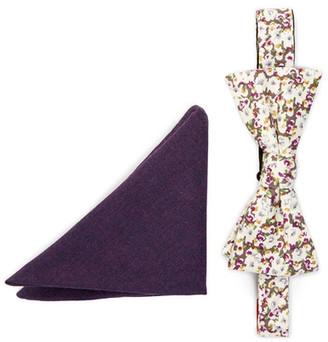 Original Penguin Erich Floral Bow Tie & Pocket Square Set $65 thestylecure.com