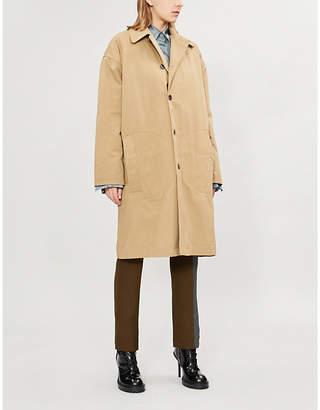 Haider Ackermann Oversized single-breasted cotton coat