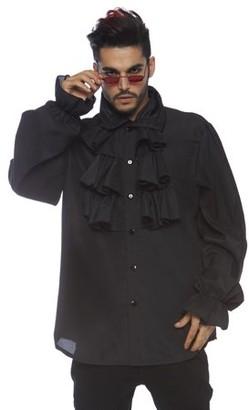 Leg Avenue Men's Renaissance Ruffle Front Pirate Shirt, Large