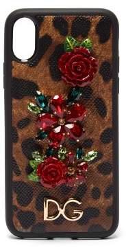 Dolce & Gabbana Dauphine Iphone X Case - Womens - Leopard