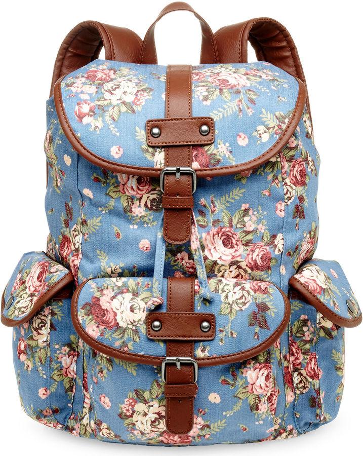 JCPenney OLSENBOYE Olsenboye Floral Canvas Backpack