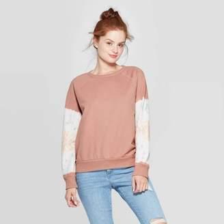 Universal Thread Women's Long Sleeve Crewneck Tie Dye Sweatshirt - Universal ThreadTM Brown