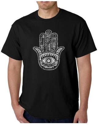 La Pop Art Men Word Art T-Shirt - Hamsa