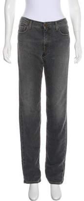 Victoria Beckham Mid-Rise Straight-Leg Jeans