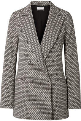 Co Double-breasted Cotton-blend Jacquard Blazer - Black
