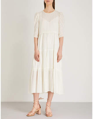 See by Chloe Striped cotton-voile midi dress