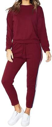 FOUNDO Tracksuit Sets for Women 2 Piece Sportwear Jogging Jog Sweatsuit XL