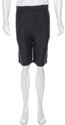 Vince Linen Flat Front Shorts