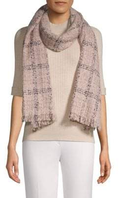 Vince Camuto Textured Plaid Scarf