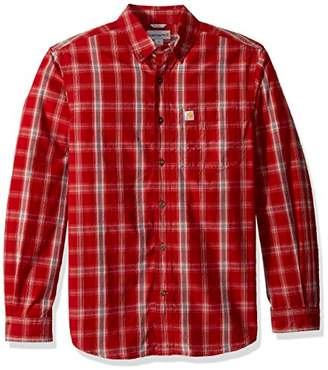 Carhartt Men's M Essential Plaid Button Down Long Sleeve Shirt