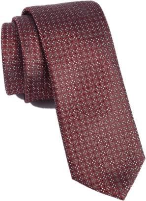 BOSS Medallion Silk Skinny Tie