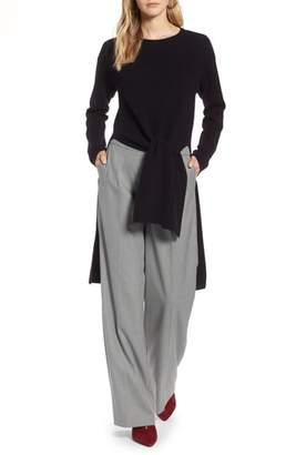 Halogen Tie Front High/Low Sweater