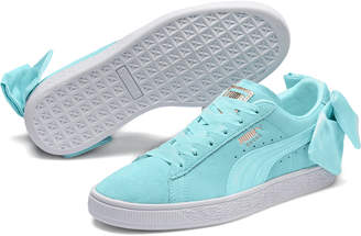 Suede Womens Bow Sneakers