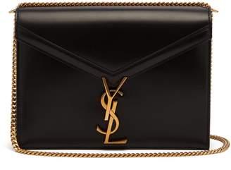 Saint Laurent Cassandra clasp leather cross-body bag