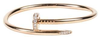 Cartier 18K Rose Gold & 0.59ct Diamond Juste Un Clou Bangle Bracelet