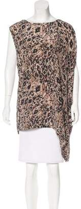 Rachel Zoe Asymmetrical Silk Top