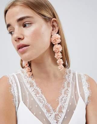 Johnny Loves Rosie Pink Floral Statement Earrings