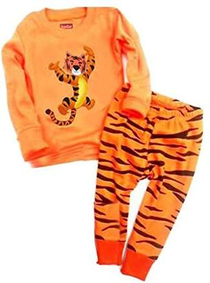 "Babygp ""Tiger"" Boys 2 Piece Pajama 100% Cotton(size:2-7years) (T, )"