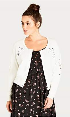 City Chic Cardi Sweet Applique